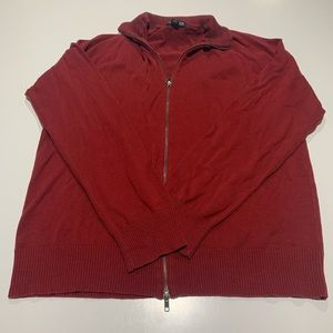 Kenneth Cole zip up high quality sweater